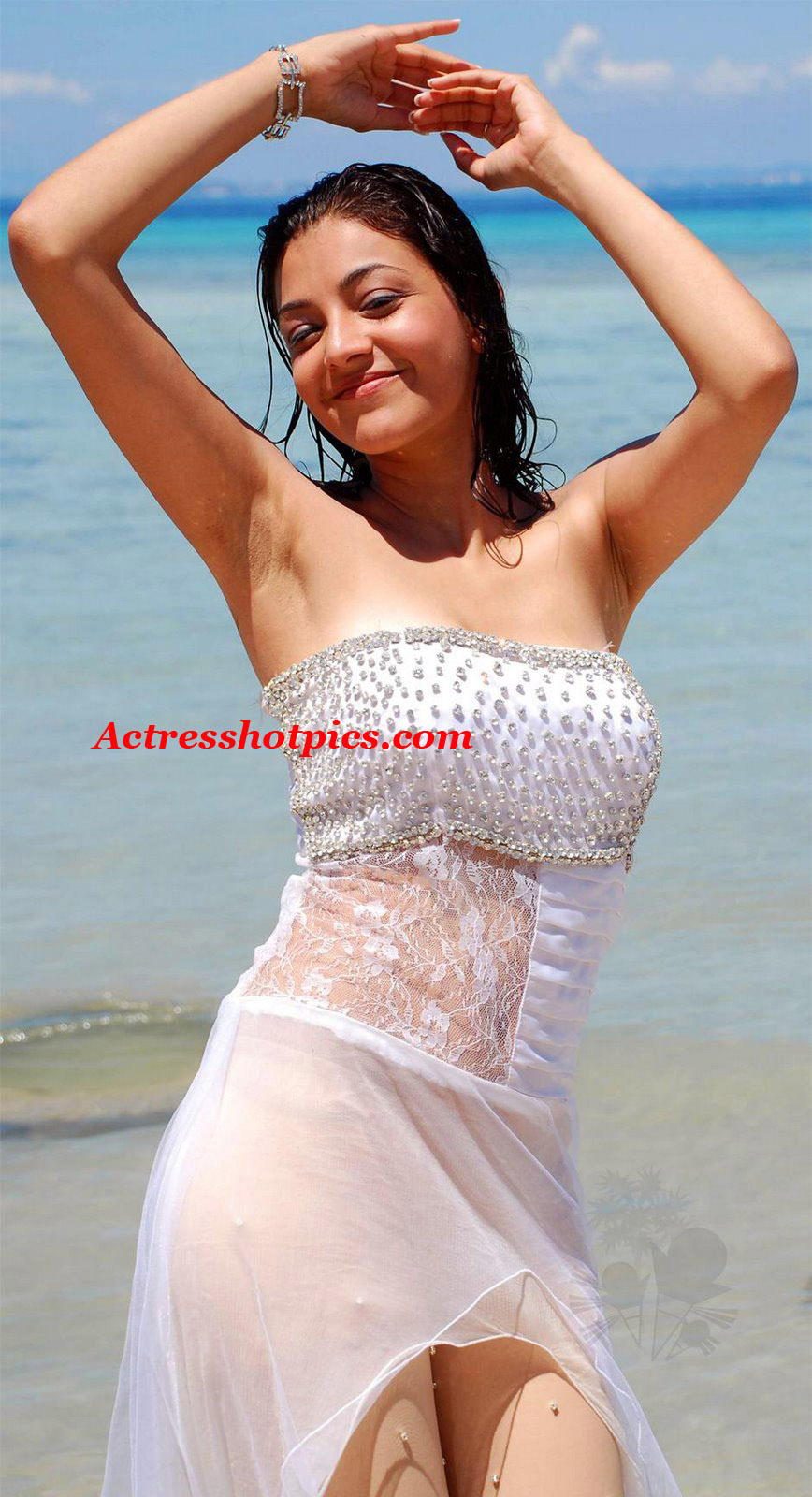 sexy transparent white dress images of telugu actress kajal agarwal By making him a great blowjob, she agreed without any words at first anal ...